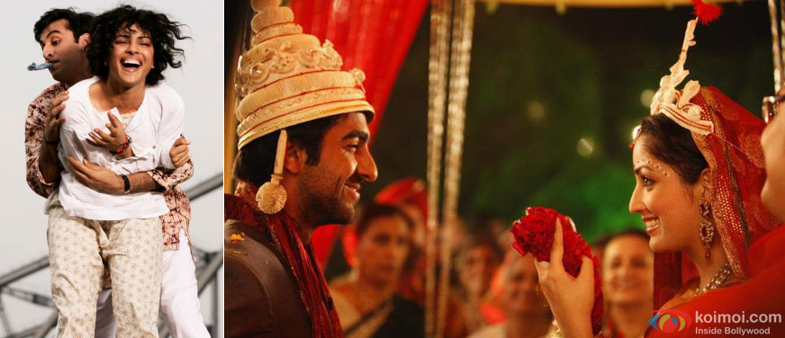 Still from Barfi! and Vicky Donor Movie