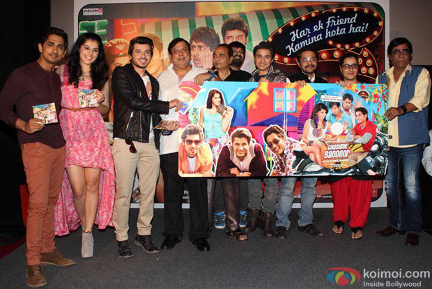 Siddharth, Taapsee Pannu, Divyendu Sharma, David Dhawan and Ali Zafar at Chashme Buddoor Music Launch