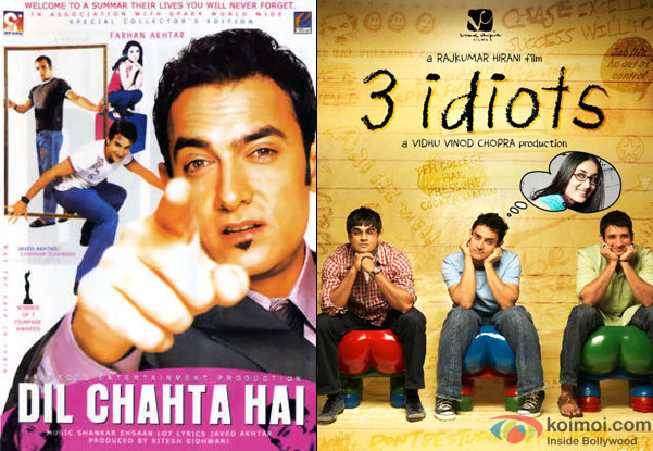 Dil Chahta Hai and 3 Idiots Movie Poster