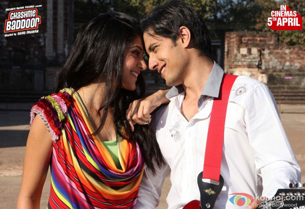 Taapsee Pannu and Ali Zafar in a still from Chashme Baddoor Movie