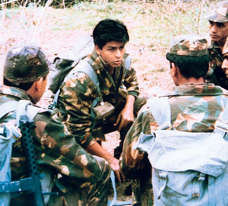 Shah Rukh Khan still from Fauji TV Serial