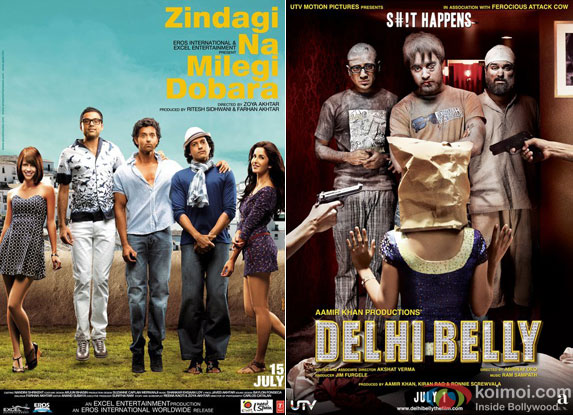 Zindagi Na Milegi Dobara and Delhi Belly Movie Poster
