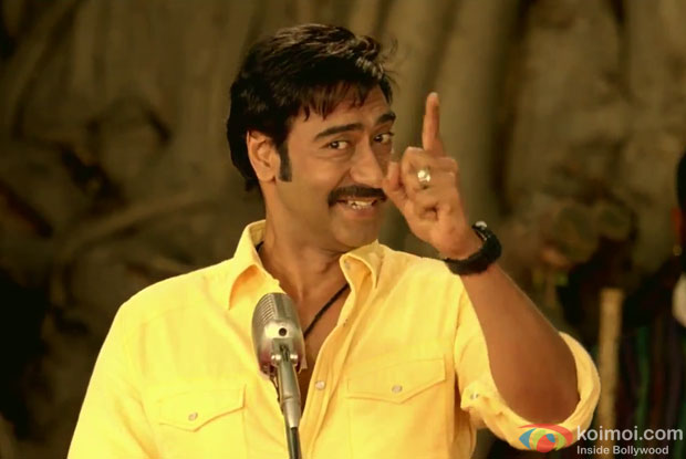 Ajay Devgn in a still from Himmatwala Movie