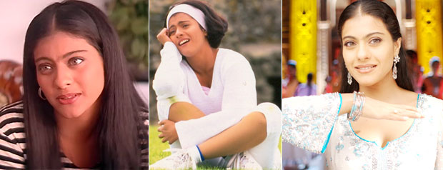 Kajol in a still from Gupt, Kuch Kuch Hota Hai and Fanna Movie