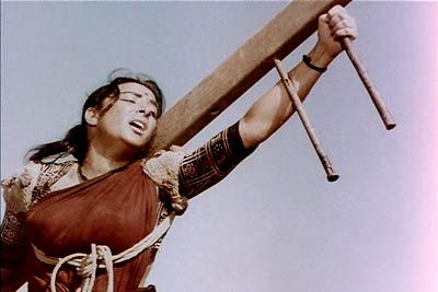 Nargis in a still from Mother India Movie