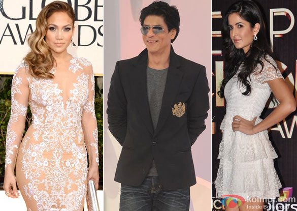 Jennifer Lopez, Shah Rukh Khan and Katrina Kaif