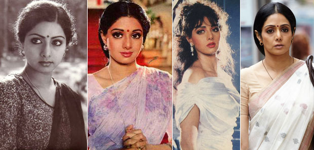 Sridevi in a still from Sadma, Chalbaaz and English Vinglish Movie