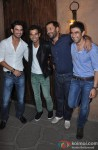 Sushant Singh Rajput, Raj Kumar Yadav, Abhishek Kapoor and Amit Sadh at Kai Po Che! Success Bash