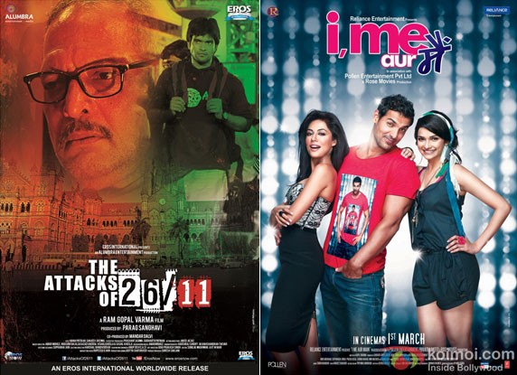 The Attacks Of 26/11 and I Me Aur Main Movie Poster