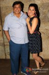 David Dhawan And Taapsee Pannu At 'Chashme Baddoor' Movie Premiere
