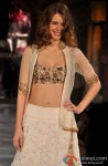 Kalki Koechlin walks the ramp at mijjwan sonnets in fabric 2012