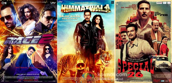 Race 2, Himmatwala, Special 26 Movie Posters