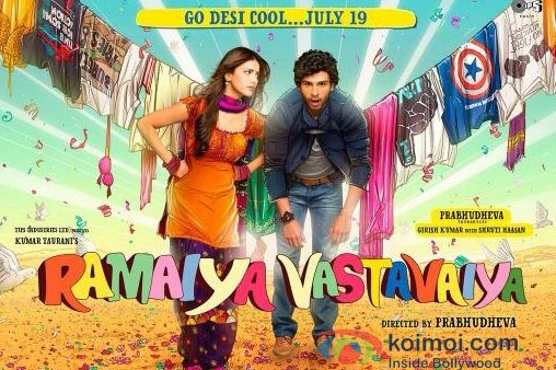 Shruti Haasan And Girish Kumar in Ramaiya Vastavaiya Poster