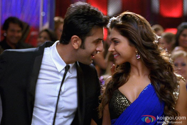 Ranbir Kapoor and Deepika Padukone in Badtameez Dil Song in Yeh Jawaani Hai Deewani Movie Stills
