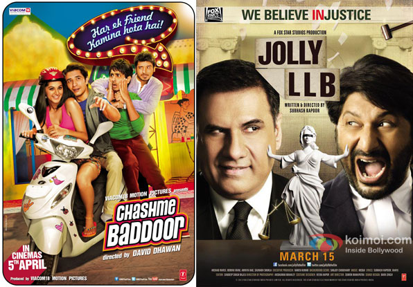Chashme Baddoor and Jolly LLB Movie Poster