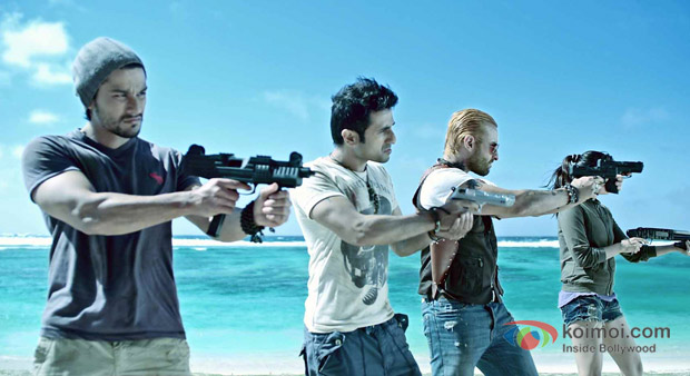 Kunal Khemu, Vir Das Saif Ali Khan And Puja Gupta in Go Goa Gone Movie Stills