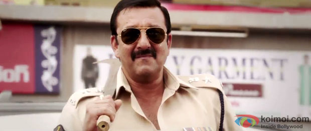 Sanjay Dutt in a still from Policegiri