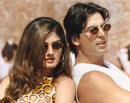 Raveena Tandon And Akshay Kumar