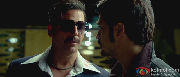 Akshay Kumar and Imran Khan in a still from Once Upon A Time In Mumbaai Again