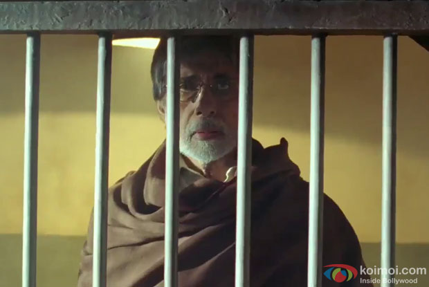 Amitabh Bachchan in a still from Satyagraha Movie