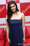 Alia Bhatt during the inauguration of the new biggest Bata store
