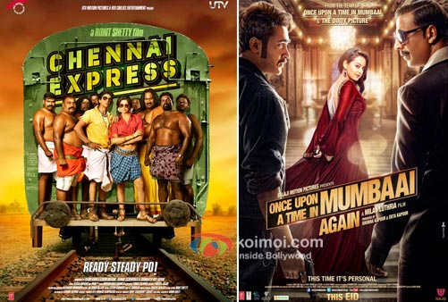 Chennai Express And Once Upon A Time in Mumbaai Again Movie Poster
