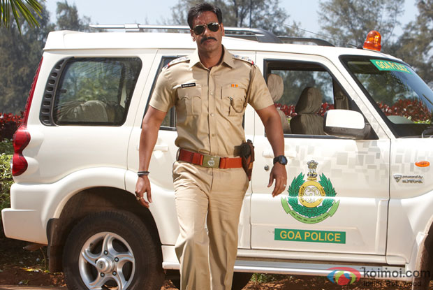 Ajay Devgn in a still from Singham Movie