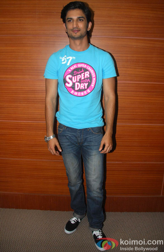 Sushant Singh Rajput at promotional event of film Shuddh Desi Romance