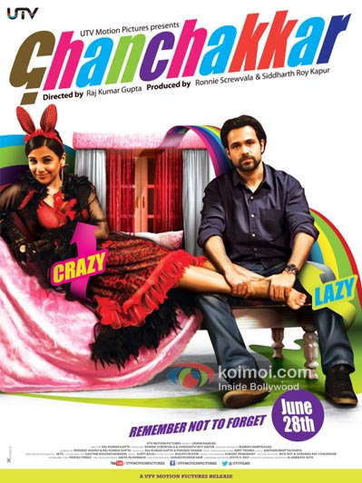 Vidya Balan And Emraan Hashmi in Ghanchakkar Movie Poster