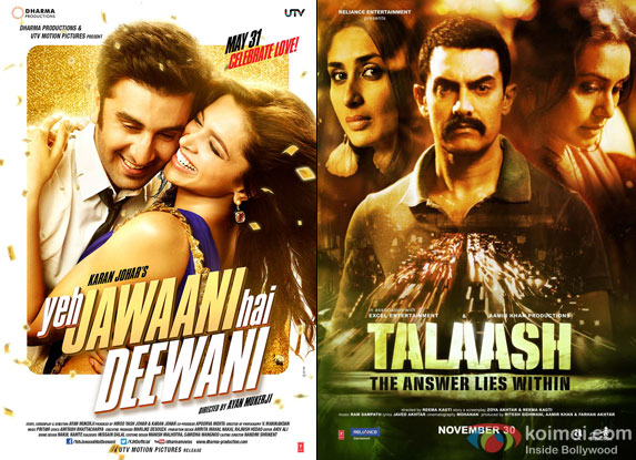 Yeh Jawaani Hai Deewani and Talaash Movie Poster