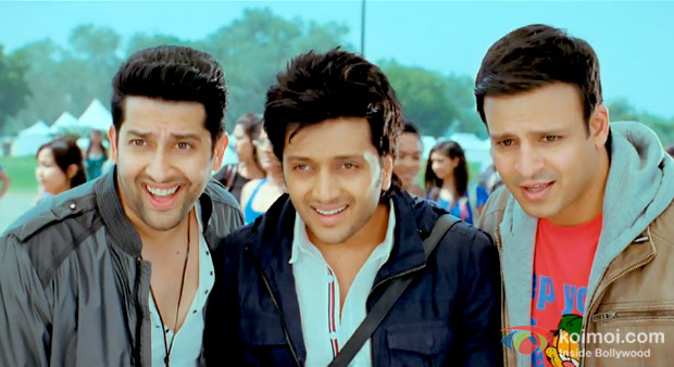Aftab Shivdasani, Ritesh Deshmukh And Vivek Oberoi in Grand Masti Movie Stills