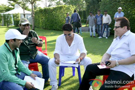 Akshay Kumar On the sets of It's Entertainment