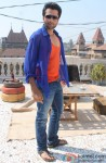 Jackky Bhagnani on the sets of film Rangrezz