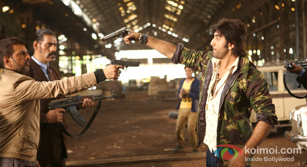 Javed Jaffrey And Ranbir Kapoor In Besharam Movie Stills