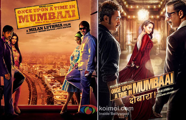 Once Upon A Time In Mumbaai And Once Upon A Time In Mumbaai Dobaara! Movie Posters