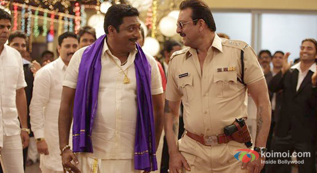 Prakash Raj And Sanjay Dutt Policegiri Movie Stills
