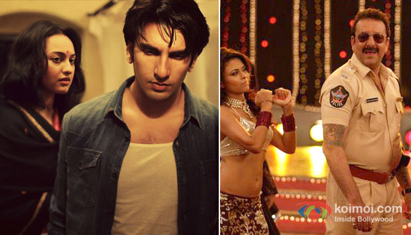 Ranveer Singh and Sonakshi Sinha in Lootera And Sanjay Dutt in Policegiri Movie Stills