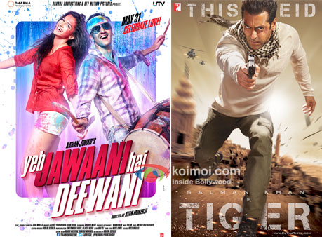 Yeh Jawaani Hai Deewani And Ek Tha Tiger Movie Poster