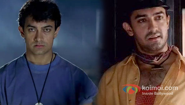 Aamir Khan in Ghulam and Rangeela Movie Stills