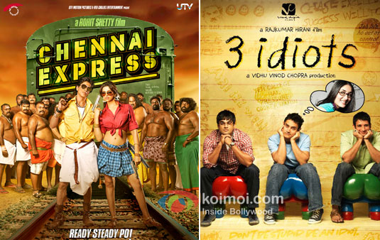 Chennai Express And 3 Idiots Movie Poster