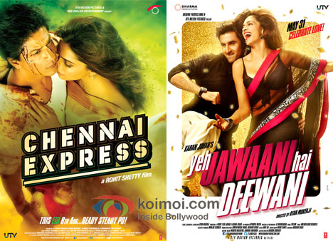 Chennai Express And Yeh Jawaani Hai Deewani Movie Poster