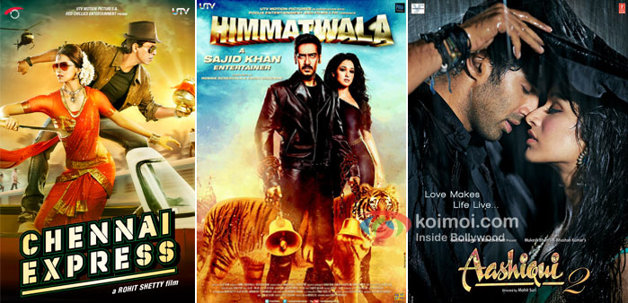 Chennai Express, Himmatwala And Aasiqui 2 Movie Poster