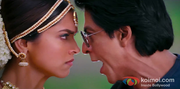 Deepika Padukone And Shah Rukh Khan In Chennai Express Movie Stills