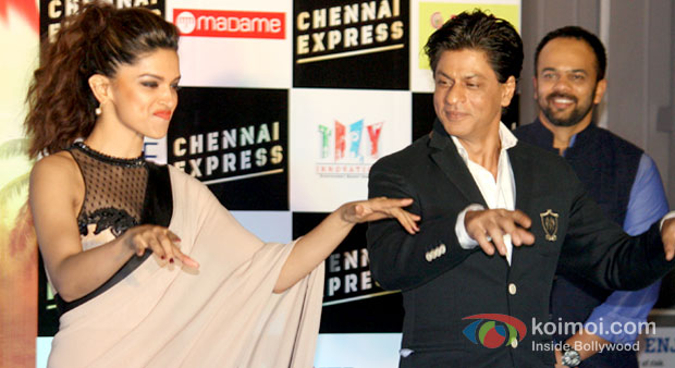 Deepika Padukone, Shah Rukh Khan And Rohit Shetty