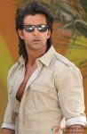 Hrithik Roshan on the sets of Krrish 3