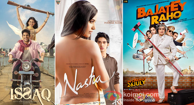 Issaq, Nahsa And Bajatey Raho Movie Poster