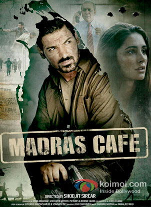 John Abraham And Nargis Fakhri in Madras Cafe Review (John Abraham And Nargis Fakhri in Madras Cafe Poster)