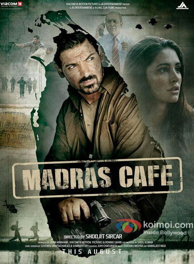 John Abraham And Nargis Fakkri in Madras Cafe Movie Poster