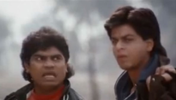 Johny Lever And Shah Rukh Khan in Karan Arjun Movie Stills