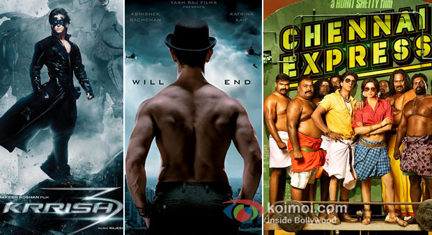 Krrish 3, Dhoom 3 And Chennai Express Movie Poster